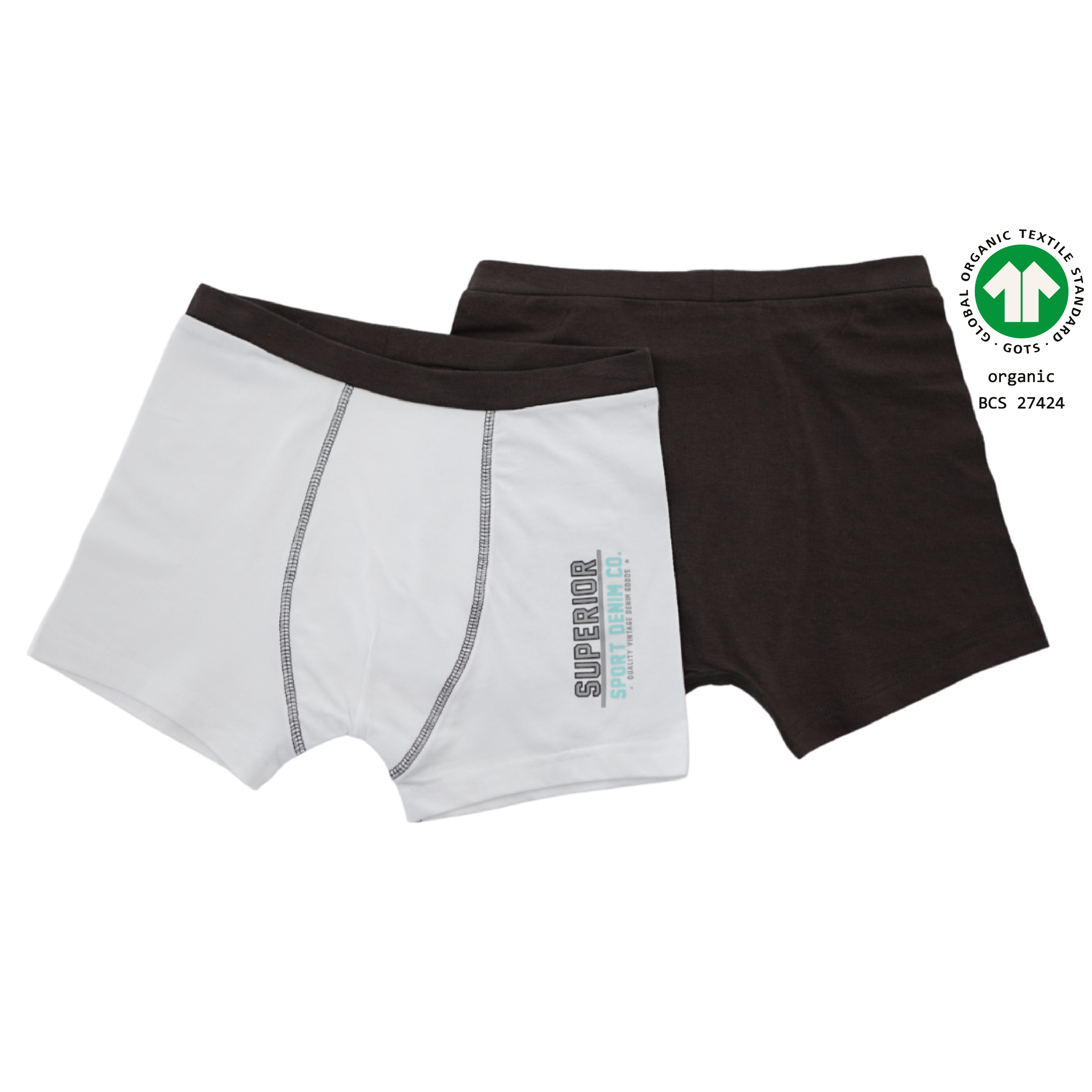 North Dept. Boy Retroshort - 2er Pack Bio Baumwolle