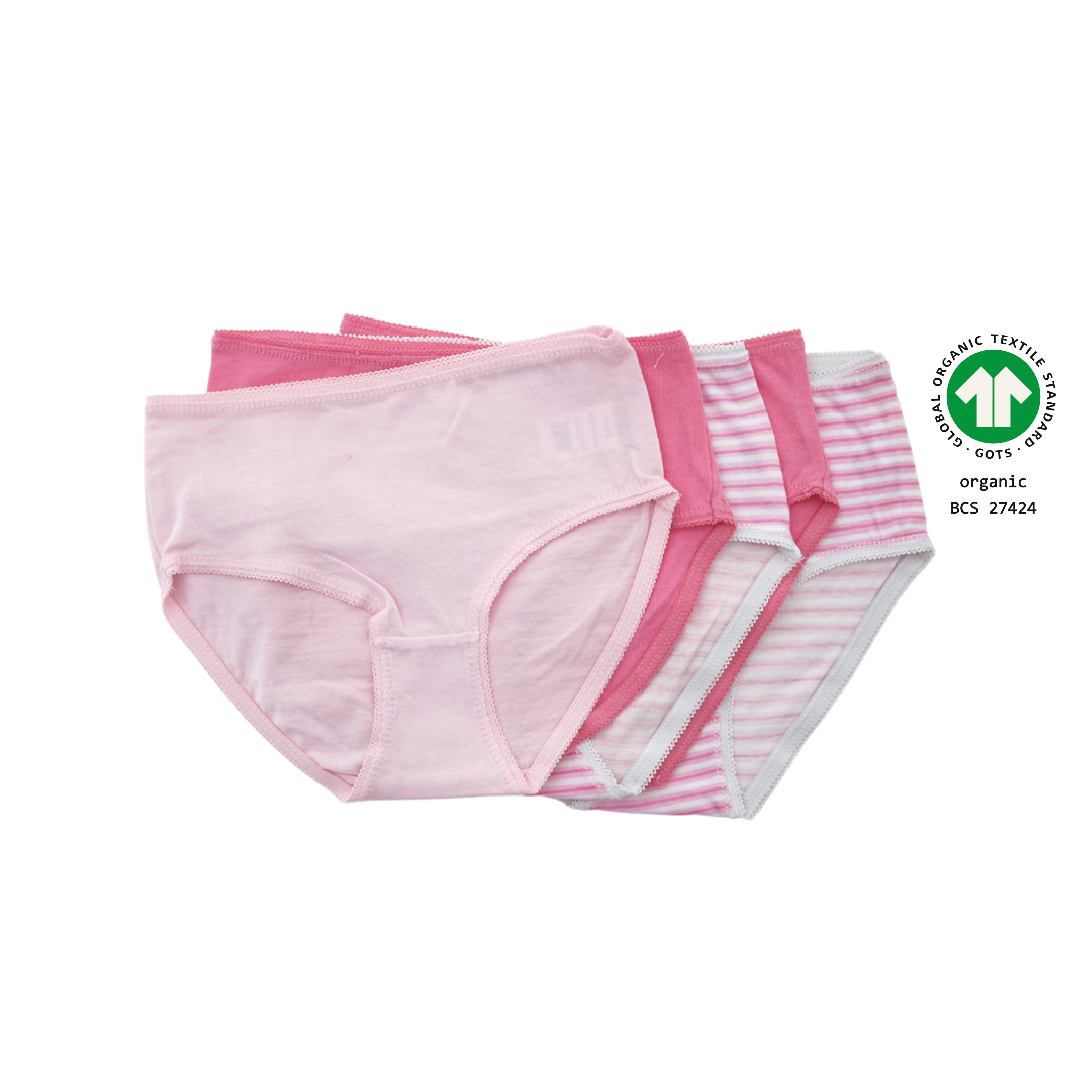 North Dept. Girl Slip - 5er Pack Bio Baumwolle